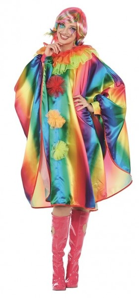 Farbenfroher Clowns Umhang für Damen