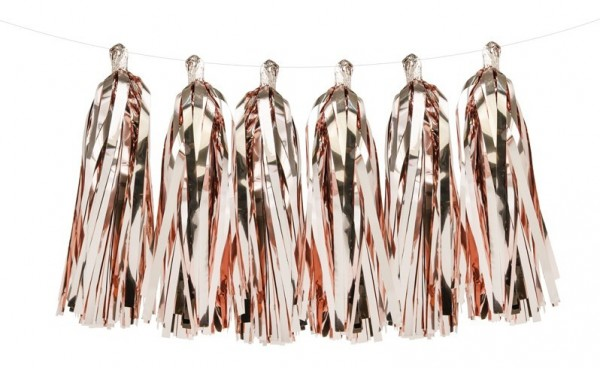 Roségold metallic Tasselgirlande 1,5m