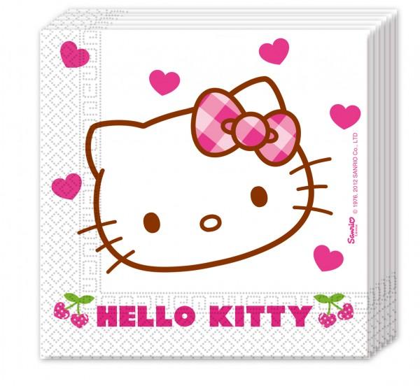 20 Hello Kitty Sweet Cherry Servietten 33cm