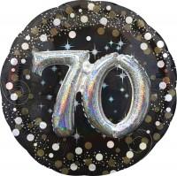 Golden 70th Birthday Folienballon 91cm
