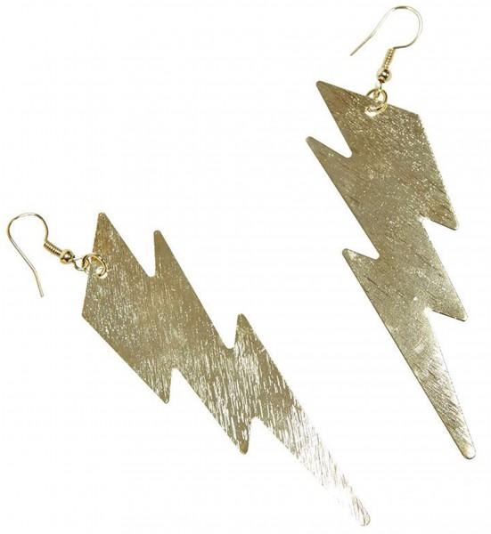 Goldene Blitzrige Ohrringe