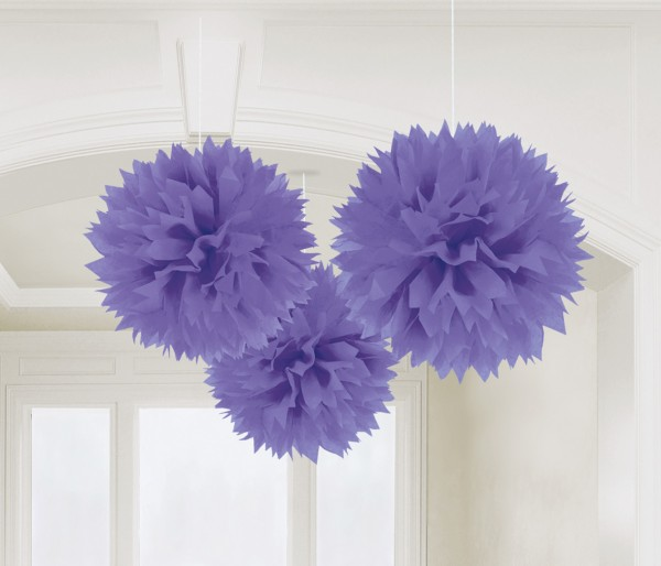 3 Romance pompoms purple