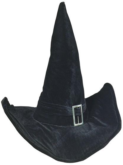 Halloween Hexenhut Schwarz mit Schnalle