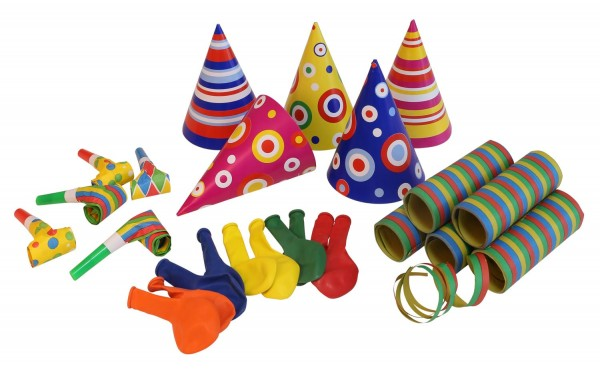 Kunterbuntes Karneval Partypaket 25-teilig