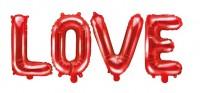 Folienballon Love rot 1,4m x 35cm