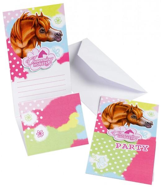 Reiterhof Party Einladungskarte Charming Horses