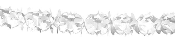 Papieren slinger Hoku wit 6m