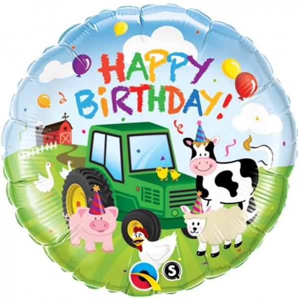 Folienballon Bauernhof Geburtstag 46cm