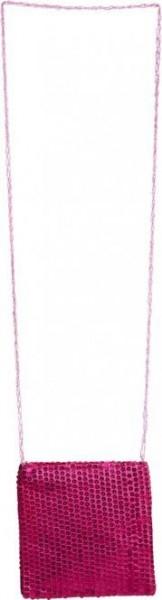 Pinke Pelly Pailletten Tasche
