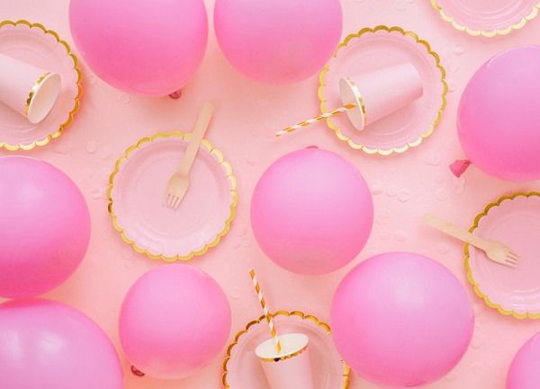 10 Eco Pastell Ballons rosa 26cm