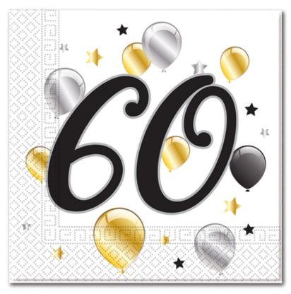 Goldene Milestone 60 Servietten 20 Stk. 1