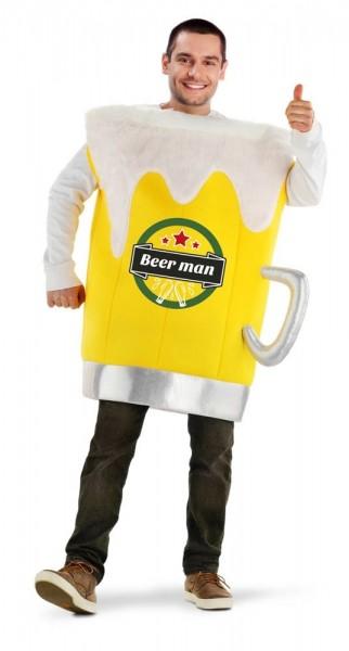 Witziges Beer Man Bierglas Kostüm