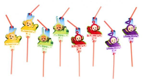 8 Teletubbies Fun straws 24cm