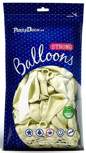 50 Partystar Ballons metallic creme 23cm