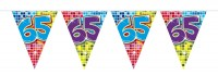 Groovy 65th Birthday Wimpelkette 3m