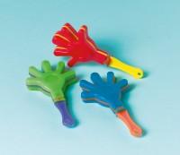 Kindergeburtstag Fanzubehör Handklapper Bunt 12 Stück