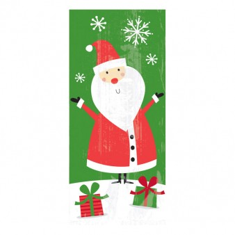 XL pack of Christmas gift bags Santa 24.1x5.7cm