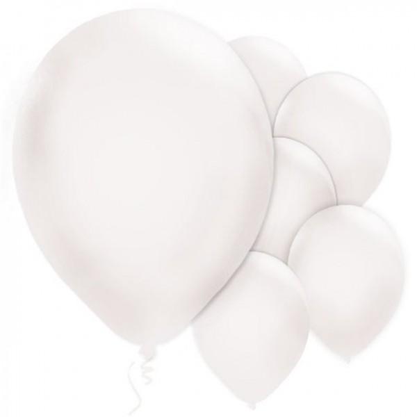 10 Weiße Luftballons Jive 28cm