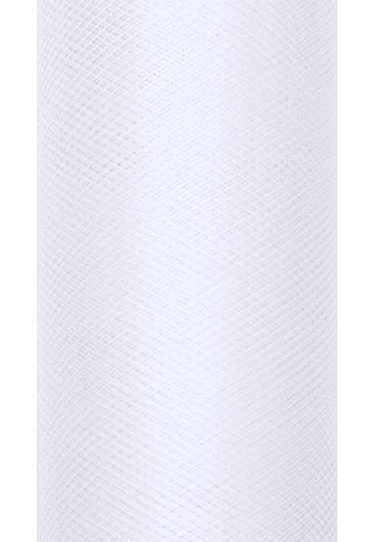 Tulle fabric Luna white 9m x 80cm