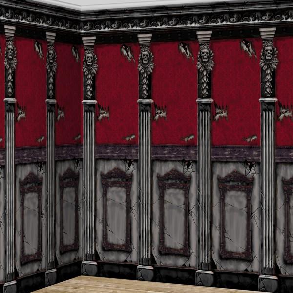 Gamle hjemsøgte villa væg baggrund Velkommen til helvede
