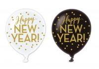 6 Happy New Year Luftballons 27,5cm