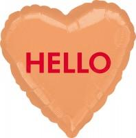 Folienballon Candy Heart HELLO