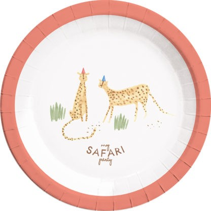 8 Happy Safari Pappteller 23cm
