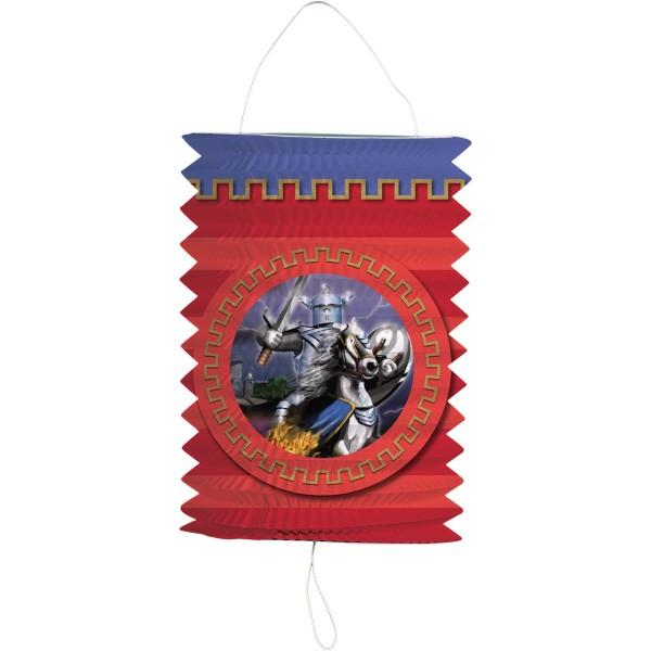 Chevalier lanterne sur cheval de guerre 16cm