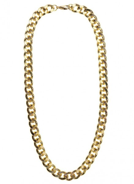 Gold chain in a swanky look 60cm