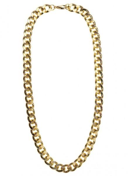 Złoty łańcuszek o pretensjonalnym wyglądzie 60cm