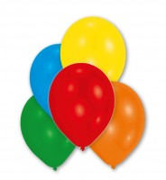 10er-Set Luftballons Bunt Metallic 27,5cm