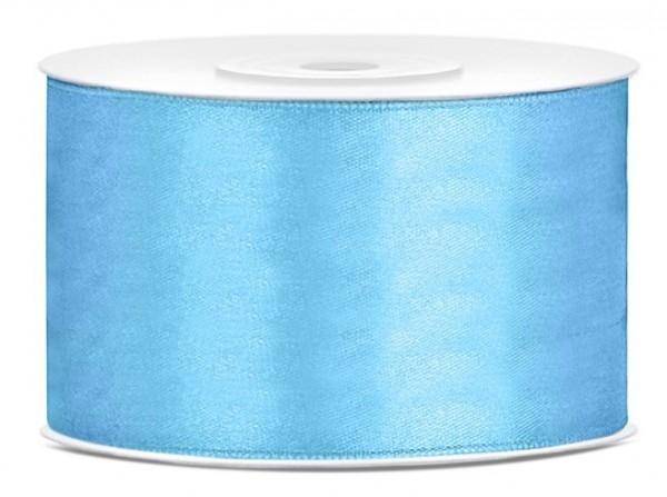 Ruban cadeau 25m bleu ciel 38mm de large