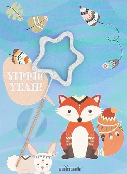 Yippie Yeah Animal Wondercard