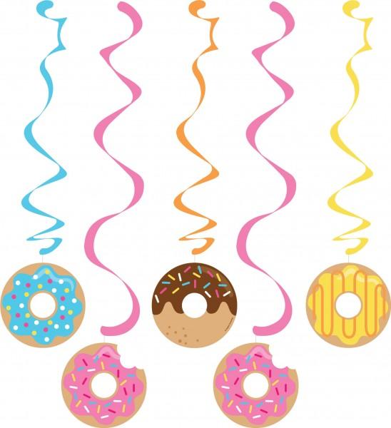 3 Donut Candy Shop spiral hangers