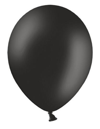 10 Ballons Pastell Schwarz 27cm 1