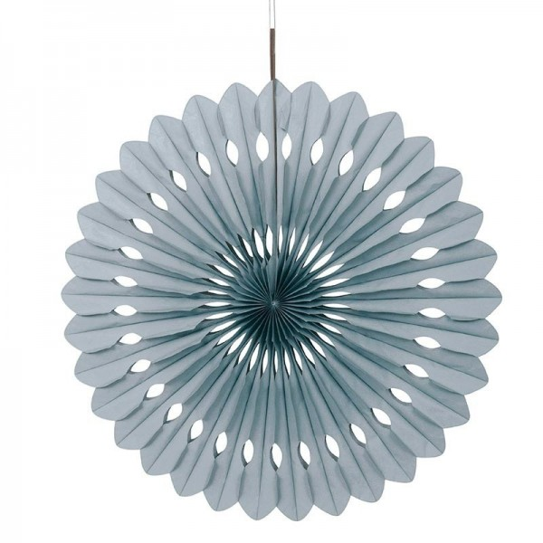 Decorative fan flower silver 40cm