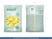 100 Eco Pastell Ballons zitronengelb 30cm