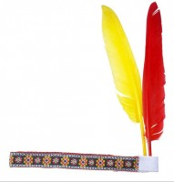 Indianerstirnband Mit Federn