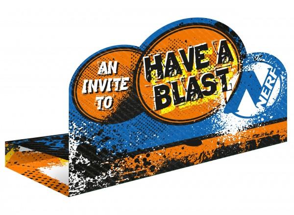 8 Nerf Have a Blast Einladungskarten