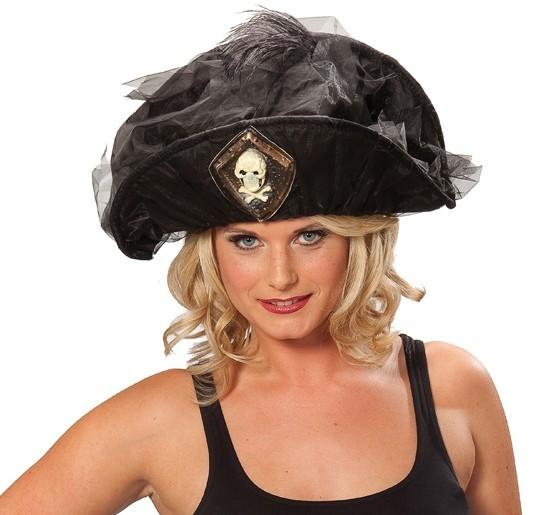 Anmutiger Piratinnenhut Für Damen