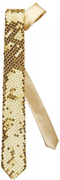 Goldene Pailletten Party Krawatte