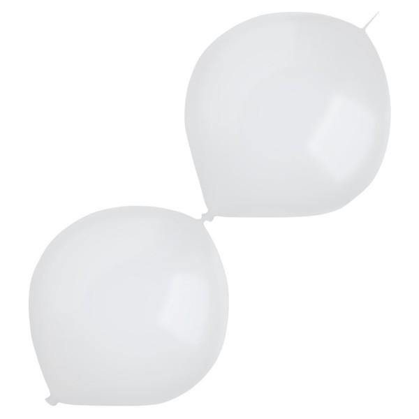 50 globos de guirnalda blancos 30cm