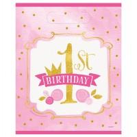8 Prinzessin Alice 1.Geburtstag Geschenktüten 23 x 18cm