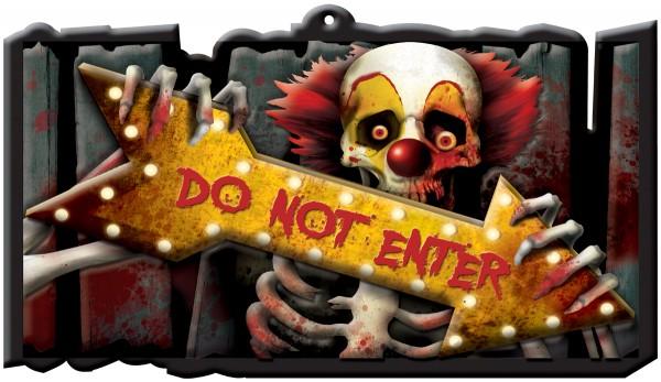 Panneau de décoration cirque horreur 43 x 25 cm