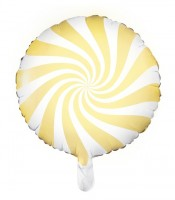 Candy Party Folienballon gelb 45cm