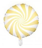 Candy Party Folienballon gelb 45cm