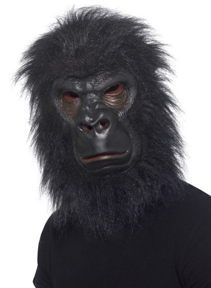 Grisgrämige Grusel Gorilla Maske