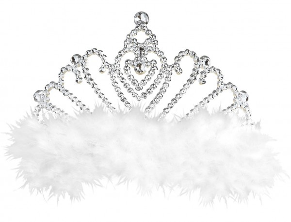 Tiara de plumas de marabú