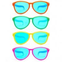 1 Jumbo-Brille in verschiedenen Farben 28cm