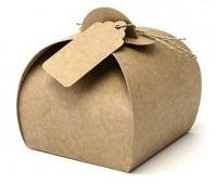 10 Kraftpapier Geschenkboxen 6cm